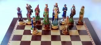 jewish themed chess set by purim