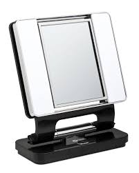 ott lite natural daylight makeup mirror black chrome 26 watt
