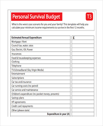 What Is An Expense Budget 14 Personal Budget Examples Samples Examples