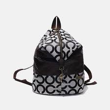 Coach Outlet In Monogram Medium Grey Backpacks DHD