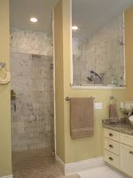 walk in tile showers without doors likeable 39 fresh doorless shower in small bathroom