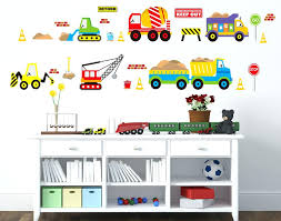 whole wall decals as well as construction vehicles wall decals working forklift mixer truck excavator crane truck wall stickers for kids babies