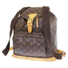 auth louis vuitton montsouris gm backpack bag monogram leather m51135 90er989