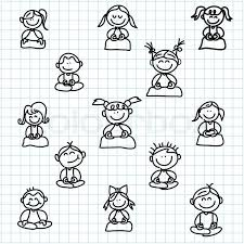 Hand Drawing Cartoon Happy People Stock Vector Colourbox