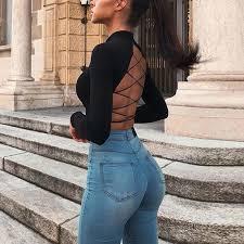 Black <b>sexy</b> crop top Women summer style short <b>puff sleeve</b> tank top ...