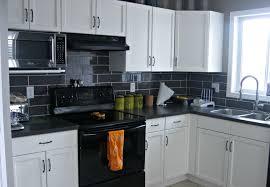 Black Kitchen Backsplash Choose Your Kitchen Backsplash With White Appliances Kitchen