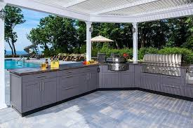 brown outdoor kitchen kitchens pictures ideas with big green egg design