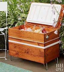 build an outdoor cooler cabinet