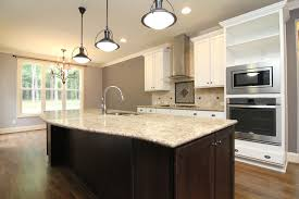 Curved island front transitional-kitchen