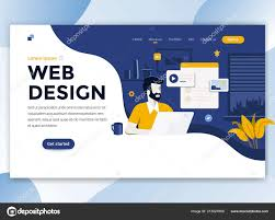 Web Design Flat Design Landing Page Template Web Design Modern Flat Design Concept