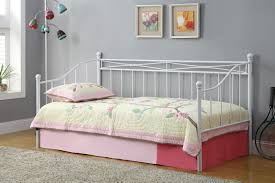 ... Inspiring Space Saving Bedroom Decoration With Various Metal Daybed  Frame : Inspiring Small Girl Bedroom Decoration ...