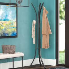 Coat And Hat Rack Stand Mercury Row Salacia Hat and Coat Rack Stand Reviews Wayfair 92
