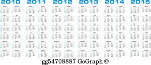 Calendar 2013 Through 2015 Eps Illustration Calendar For 2010 Through 2013 Vector