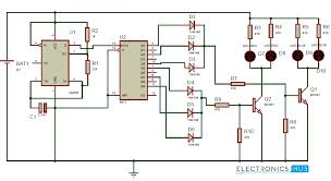 police lights circuit using 555 timer and 4017 decade counter 3-Way Switch Wiring Diagram at 4017 Wiring Diagram