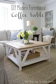 farmhouse style coffee table elegant how to build a diy modern farmhouse coffee table