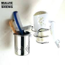 hair appliance holder rack dryer with cup blow bathroom shelf stainless steel organizer wall mount moun