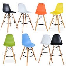 eiffel style dining chair designer breakfast bar stool wood legs wooden chair