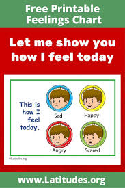 Free Feelings Chart This Is How I Feel Today Simple