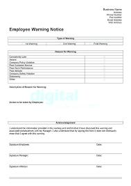 sle written warning template for atude exle reprimand letter poor performance