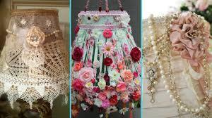 Diy Shabby Chic Style Lampshade Decor Ideas Home Decor Interior Design Flamingo Mango