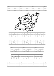 Tracing Bat Worksheets For Preschool Bat