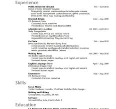 College Interview Resume Professional Resume Templates