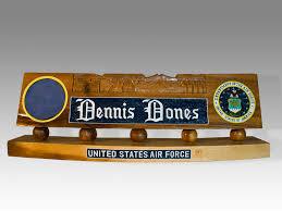 military wooden desk name plates ayresmarcus