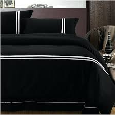 black gold duvet cover king black duvet cover king size european style solid black 100 cotton