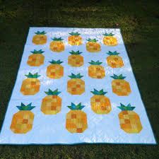 Pineapple Quilt Pattern Beauteous Gemini Stitches The Big Pineapple Quilt