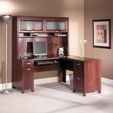 oak desks for home office. Decoration Ideas. Marvelous Decorating Ideas Using Round Silver Standing Lamps And L Shaped Brown Wooden Oak Desks For Home Office