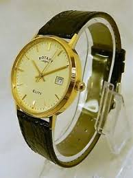 solid 18ct gold rotary elite quartz men 039 s watch image is loading solid 18ct gold rotary elite quartz men 039