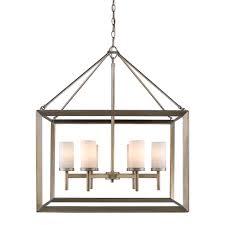 golden lighting s smyth 6 light chandelier white gold opal glass 2073 6 wg