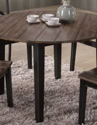 Seats up to eight people. A La Carte Black Round Farmhouse Dining Table Bargain Box And Bunks
