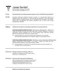 Cna Resume Sample With No Experience 0 Samples Format 2017