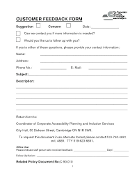 Event Feedback Form Template Free Project Feedback Form