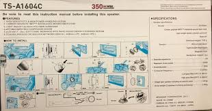 pioneer 6 5 component speakers. pioneer ts-a1604c 6.5\u0027 2-way 700w component speaker pioneer 6 5 speakers