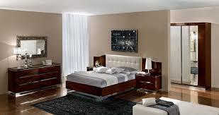 white italian furniture. Bedroom:Elegant And Modern Italian Bedroom Furniture With White Headboard Black Floral Rug Also