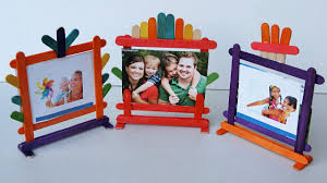 popsicle stick crafts how to make photo frames 4 diffe types