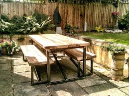 industrial style outdoor furniture. Industrial Style Outdoor Furniture Mill Large Garden Table Benches Patio .
