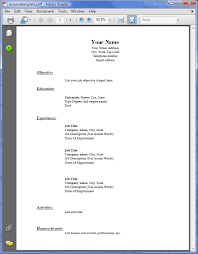 Sample Resume Pdf Simple Sample Resume Templates Pdf