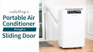 how to install a portable air conditioner through a sliding door sylvane