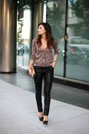 spice up your comfortable outfit for a casual day look try pairing leather leggings with lots of layers on top to keep warm you can team leather