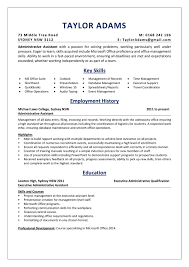 Administrative Assistant Key Skills An Resume Sample Absolutely Free