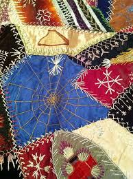 74 best crazy quilt - spider webs images on Pinterest | Embroidery ... & detail, Crazy Quilt, circa 1875-1900, silk, brocade, velvet. Adamdwight.com