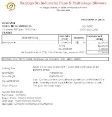 Proforma Invoice Letterofcredit Biz Lc L C