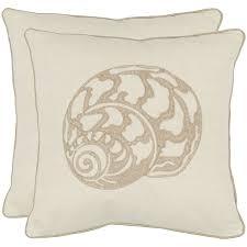 cream decorative pillows.  Decorative Safavieh Sea Shell 18inch Cream Decorative Pillows Set Of 2 And O