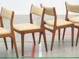 chair superb mid century od teak dining chairs by erik buch for design of teak rocking chair