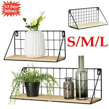 metal wire industrial wood wall mounted