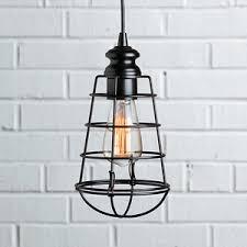 improvements industrial cage instant pendant light cage lighting pendants