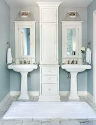 mini pedestal sink. Mini Pedestal Sink How To Get Two Sinks And Storage In A Small Bathroom